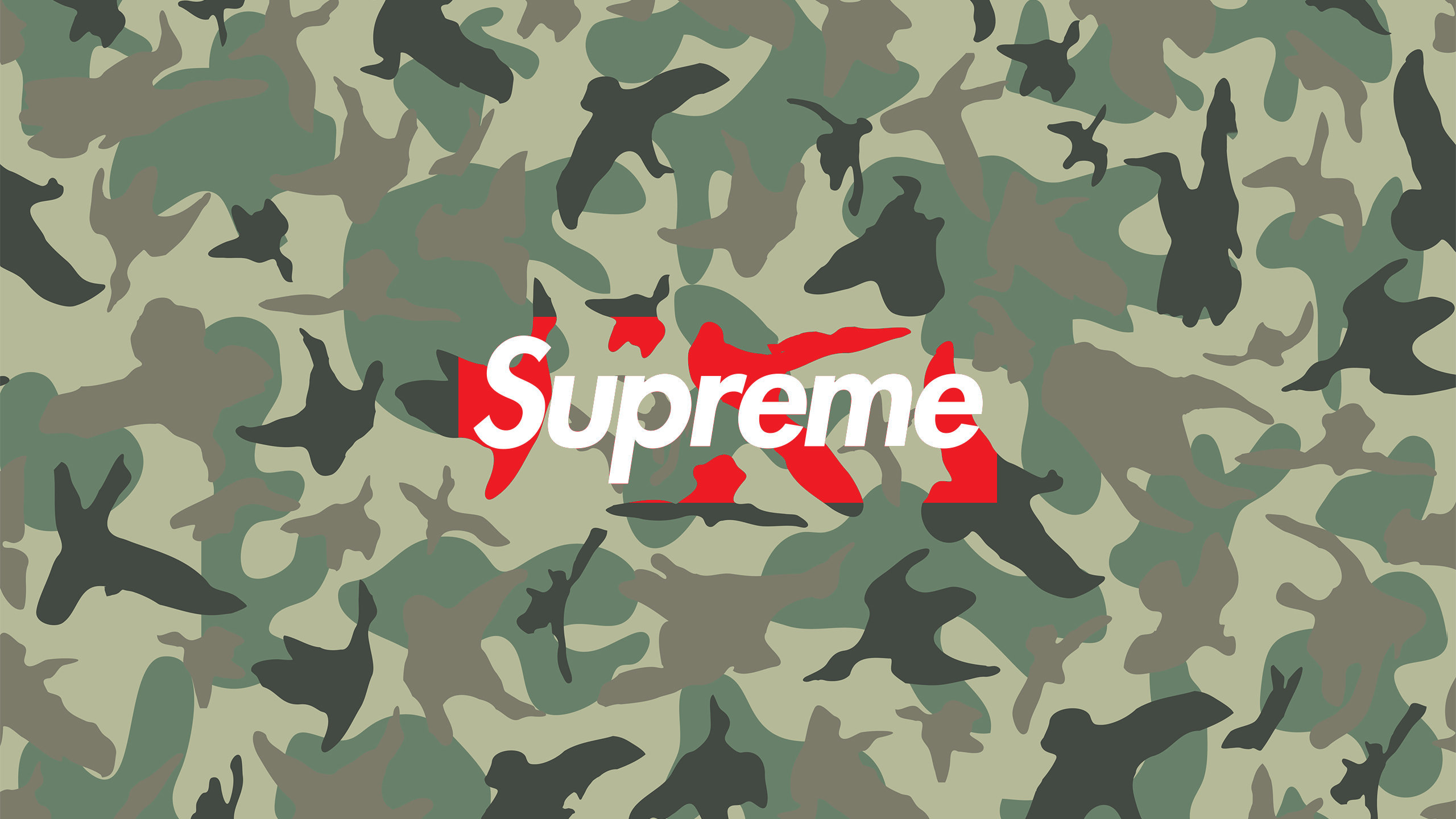 Supreme Camo Wallpaper